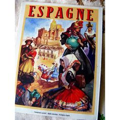 Vintage 1940s Spanish Tourism Brochure Josep by BessieAndMaive