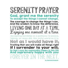 Serenity Prayer Canvas CUSTOM