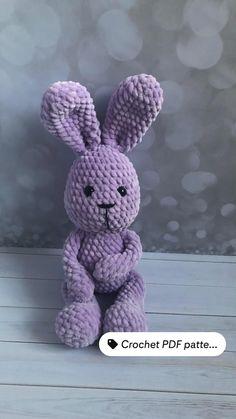 Crochet Toys Patterns, Amigurumi Patterns, Crochet Ideas, Crochet Bunny, Crochet Animals, Softie Pattern, Etsy Business, Stuffed Animal Patterns, Crochet For Beginners