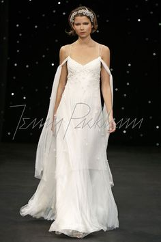 Baju pengantin Jenny Packham wedding dress with sleeves