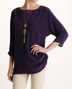 Under Skies Solid Tunic Top
