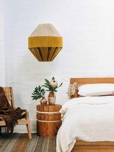 Pop & Scott · Dream Weaver Lamp Shades — The Design Files Shabby Chic Lamp Shades, Rustic Lamp Shades, Dream Bedroom, Home Bedroom, Bedroom Decor, Bedrooms, Pop And Scott, The Design Files, Design Blog