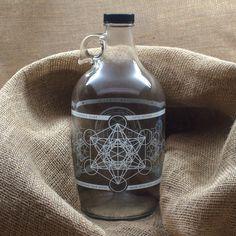 f929591453 Metatron Glass Jug Glass Water Jug, Clear Glass, Water Bottle,. Vibe Bottle