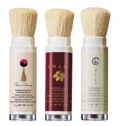 Shimmering Body Powder Brushes from Haiku, Imari &  Far Away.