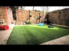 DIY How to lay an artificial grass lawn turf - Timelapse with music HD Laying Artificial Grass, Artificial Grass Installation, Artificial Turf, Fake Grass, How To Lay Turf, Lawn Turf, Garden Design, Landscape Design, Patio Ideas