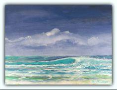 Acryl/Leinwand 30 cm x 40 cm x 1,5 cm verkauft  The Wave