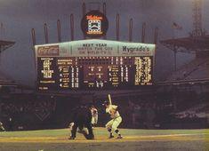 "Old Comiskey's Iconic ""Exploding Scoreboard"" Debuted 58 Years Ago Today! - Baseball History Comes Alive! Baseball Scoreboard, Baseball Park, Baseball Photos, Paul Konerko, White Sox Baseball, Sports Stadium, Job Interview Tips, Big Photo, Chicago White Sox"