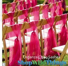 Organza Chair Sashes, Chair Bows, Chair Sash, Organza Chair Bow $6.99 Set of 6!