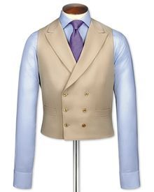 Buff morning suit waistcoat
