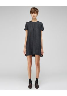 Charles Anastase / Pleated Denim Mini Dress  |   La Gar�onne | La Garconne