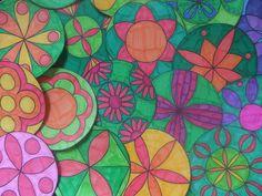 Mandalas zum Ausdrucken Blumen