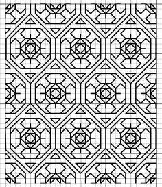 Looks a bit stained glass Blackwork Cross Stitch, Blackwork Embroidery, Cross Stitching, Cross Stitch Embroidery, Embroidery Patterns, Graph Paper Drawings, Graph Paper Art, Peyote Stitch Patterns, Bracelet Patterns