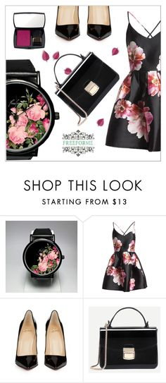 FreeForme 2/6 by goldenhour on Polyvore featuring Sans Souci, Christian Louboutin and Lancôme