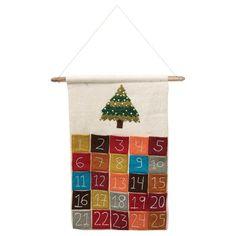 Felt Advent Calendar, Advent Calenders, Holiday Calendar, Countdown Calendar, Calendar Ideas, Days Till Christmas, Christmas Countdown, Advent Season, Creative Co Op