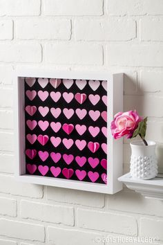 Before you pack away the hearts and cards...whip up a quick project to prepare for next year! Leave your valentine's heart fluttering with this DIY shadow box.