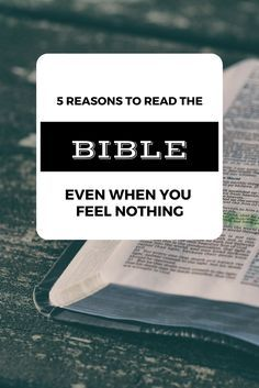 5 POWERFUL reasons to keep reading the Bible, even when you feel NOTHING.