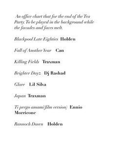 Thom Yorke's office tea party playlist :)