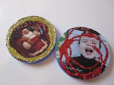 Recycled Lid Ornaments