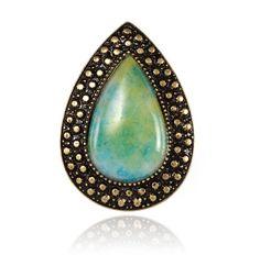 Bohemian Bardot Ring - Marble Blue