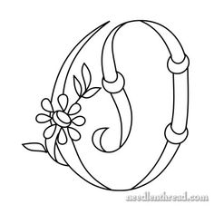 Free Monograms for Hand Embroidery: 'O' via Mary Corbet