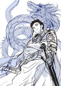 Tags Mak Kainemaru Mangaka MAGI: The Labyrinth of Ma... Series Ren Hakuren Character Armor Chinese Clothes Dragon Mole