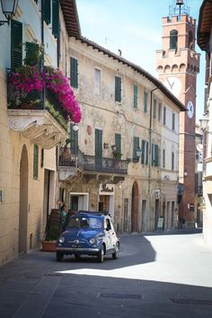 Tuscany - Crete Senese (Sienese Clay Hills), the village of Asciano - small morning market