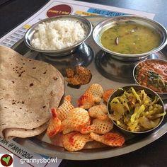 Via @grannysbowl -  Everyday is thali day at Granny's. Chapatis groundnut subji cabbage subji daal rice papad and pickle. All for the princely sum of Rs. 100 only. Too good no? #vegan #lunch #rice #pune #india #plantbased #vegetarian #indianfood #grannysbowl #punecity #puneri #punekar #punefoodie #veganinpune #vegansofindia #vegansofig #vegansofinstagram #veganfood #veganeats #veganfoodshare #whatveganseat #Foodiye #indianfoodiye #MumbaiFoodiye #IncredibleIndia .  Follow  @Mumbai_Foodiye…