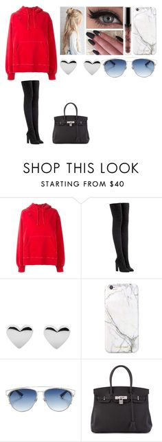 """""""Untitled #811"""" by victoriamdeacon ❤ liked on Polyvore featuring adidas Originals, russell+hazel, Christian Dior and Hermès"""