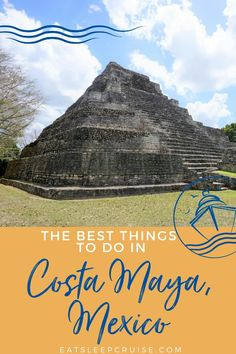 Are you dreaming of a tropical vacation to get away from the worries of the world? Here are our top 5 picks for the best things to do while ashore in the beautiful Western Caribbean port of Costa Maya, Mexico! Whether you visit on a cruise vacation or other travel, there are excursions for everyone. From exploring the heart of the ancient Mayan civilization, enjoying the local beaches, and exploring the natural beauty of the area, and so much more. Check out our post to see all our tips. Cruise Excursions, Cruise Port, Cruise Tips, Cruise Travel, Cruise Vacation, Disney Cruise, Bermuda Vacations, Bahamas Vacation, Mexico Vacation