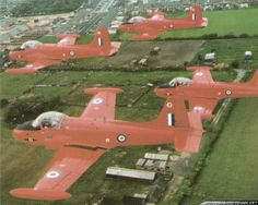 In 1962 from the Royal Air Force Central Flying School based at Kemble Airbase was formed the Red Pelicans aerobatic display team Air Force Aircraft, Red Arrow, Royal Air Force, Military Aircraft, Baseball Field, Airplane, Aviation, Wings, Forget