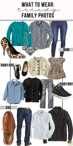 What to Wear: Family Photos. Helpful tips and fun inspiration for choosing outfits for group photos
