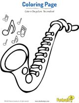 Saxophone Coloring Page #musicalinstruments