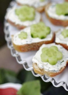 Simple Open-Faced Cucumber Tea Sandwiches— perfect for showers or afternoon guests!