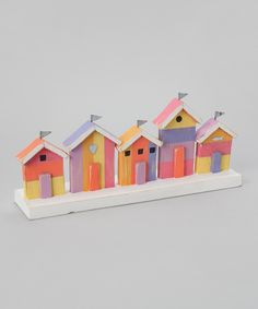 Colourful Beach Huts Decoration