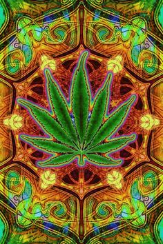 ☮ American Weed Hippie Art ~ Marijuana