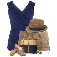 """""""Tank Top + Fedora"""" by bitbyacullen on Polyvore"""