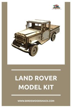 """This 3D wooden model is a Land Rover. This model will NOT come painted or assembled. The model will be carved out with a laser machine on a 1/8"""" sheet of Baltic Birch plywood. A fully detailed set of instructions on how to assemble will be included. #wood #modelhouse #americanhouse #gift #decor #bird'swoodshack #car"""