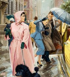 Couple in the Rain 1954 Jack Klay. JM.