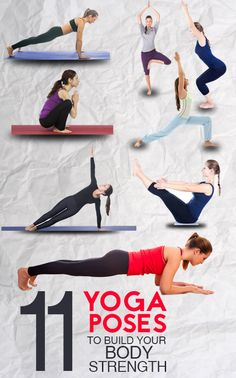 Do you think that yoga is practiced only for stretching, flexibility and stress release? Here are 11 strength building yoga poses for you to check ... #yoga #fitness