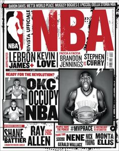NBA. So tricky putting multiple images on a cover but this one gets it spot on. Love the implied movement and texture.