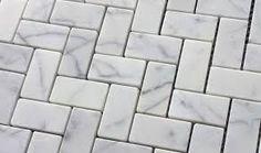 Carrara Bianco mosaic fliser i marmor