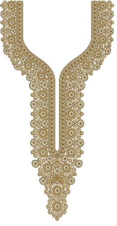 Latest Neck Designs for Kurtis / Dress / Suit / Men's Neck, Gala Designs Download Embroidery Design From EMBCART Mobile application Border Embroidery Designs, Embroidery Leaf, Embroidery Suits, Machine Embroidery Patterns, Gala Design, Islamic Art Pattern, Kurti Neck Designs, Neck Pattern, Lace Flowers