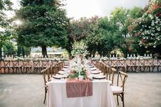 La Tavola Fine Linen Rental: Dupionique Iridescence Blue with Velvet Blush Table Runners and Napkins | Photography: Anna Perevertaylo, Coordination: Alluring Events, Florals: The Dixon Florist, Venue: Park Winters, Rentals: Celebrations Party Rentals