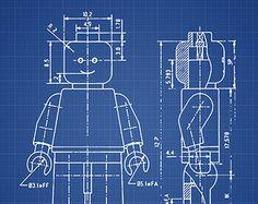 Lego Blueprint Patent Wall Art Poster 4