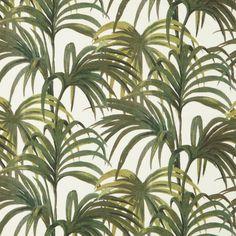 PALMERAL Cotton Linen White / Green