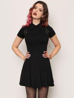 Addams Mini Dress - Black - Gypsy Warrior