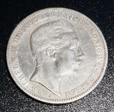 Extremely Rare Silver Coin 1910-A German States Bavaria 3-Mark Coin, 90% Fine Silver, High Grade with Fine Details Visible  http://www.amazon.com/gp/product/B00JUUNCPQ/?tag=p1nt-20