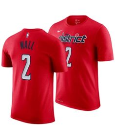 Nike Men John Wall Washington Wizards Earned Edition Player T-Shirt 7eb226e32