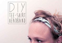 Weave together a couple of strands from an old t-shirt to make a headband for the gym.