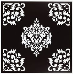 Damask! I love it! Classy written all over it & it can stand alone or be put with any color for fabulousness
